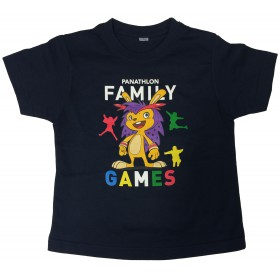 T-shirt Family Games Lausanne marine unisexe