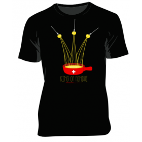 T-shirt Homme King of Fondue