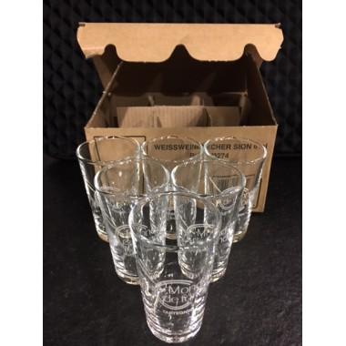 Carton de 6 verres Sion 6cl logo blanc