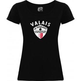 T-shirt Valais Le Fendant femme noir